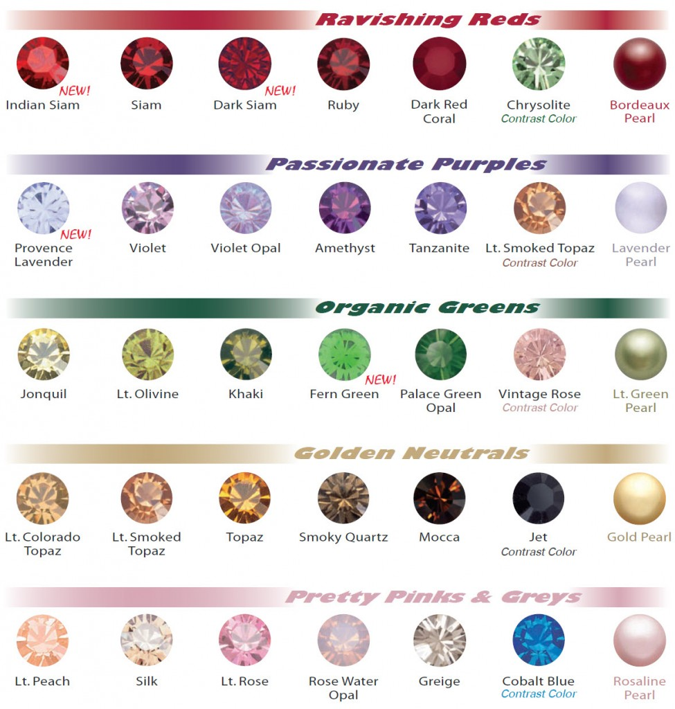 Swarovski color chart for fallwinter 20102011 eureka crystal bead geenschuldenfo Gallery