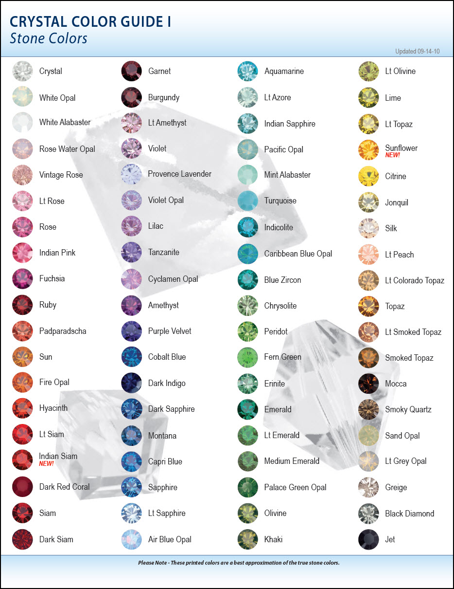 Swarovski crystal color chart eureka crystal beads blog these geenschuldenfo Gallery