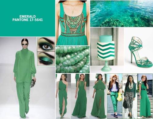 This year's color of the year: Emerald.
