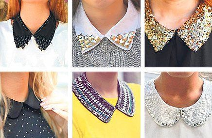 Beaded Peter Pan collars are all the rage in Europe.