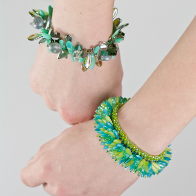 Spring colors in Dagger beads! A perfect combination!