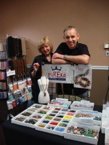 Bonita and Walter of Eureka Crystal Beads Czech Bead Wholesale edsion NJ bead show