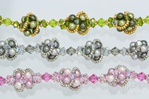 Swarovski Pearl cluster bracelets.