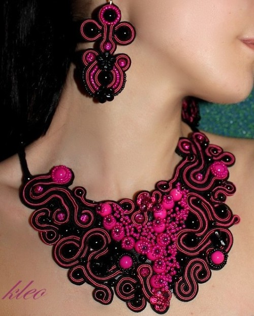 Soutache Ribbon Embroidery Jewelry