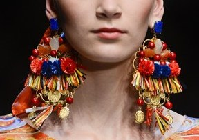 Dolce and Gabbana earring collection Spring 2013.