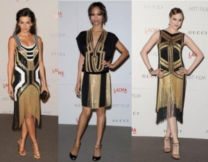 Contemporary fashion inspired by Art Deco