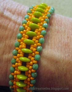 Two Hole Lentil Bracelet from Beadstreetonline.