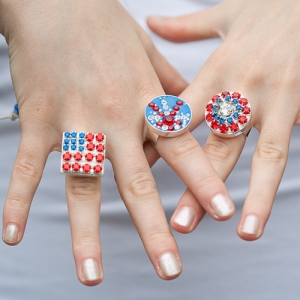Bling rings for Fourth of July