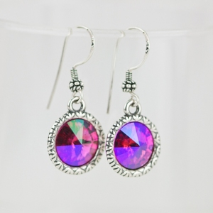 Beautiful set of rivoli earrings.