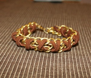 chain-suede-woven-bracelet