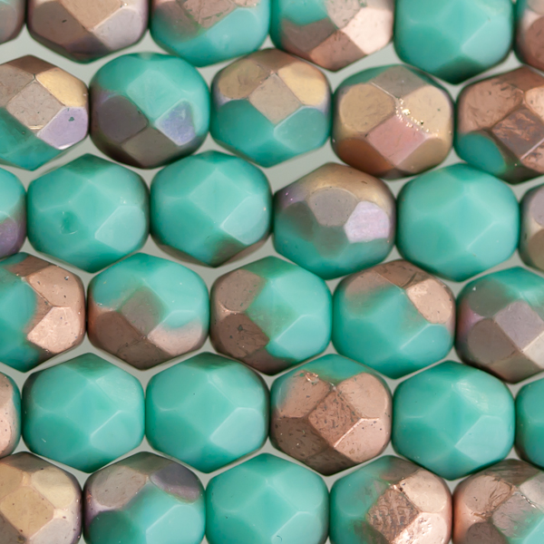 beads beading czech glass Matte Apollo Turquoise