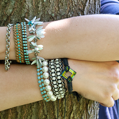 stacked bracelets trend beads beaded diy jewelry eureka