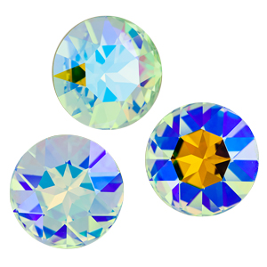 Crystal Honeydew Swarovski Special Finish Custom Coating Eureka Crystal Beads