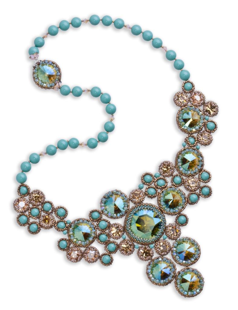 Eureka Crystal Beads Chatons Princess Necklace Megan McBrearty