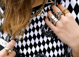 jewelry street style stud rings adorn london jewelry trends blog