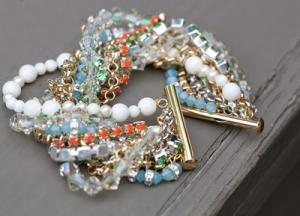 lumibrace06 multi strand bracelet diy tutorial swarovski beading crystal trends