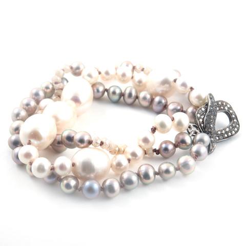 multistrand pearl bracelet diy eureka