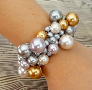 pearl bracelet swarovski eureka crystal beads