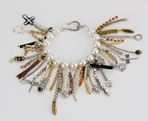 ysl saint laurent diy fringe bracelet tutorial trends pearl beading clasps findings