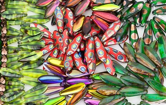 czech glass dagger beads eureka crystal