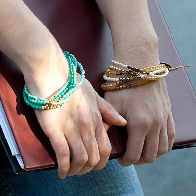 New Beaded MultiStrand Bracelet Design Eureka Crystal Beads Blog