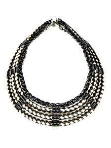 auden sierra woven leather collar necklace