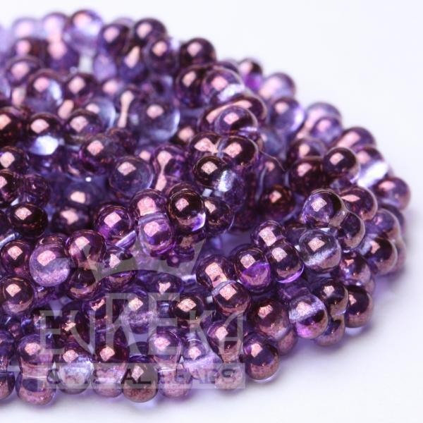 purple beads farfalle seed bowtie peanut eureka crystal czech glass