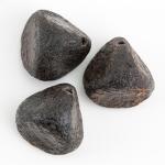 coal black nugget beads halloween