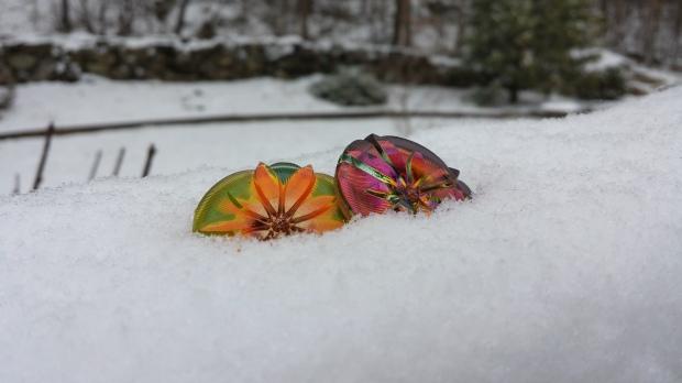 czech flower ice snow glass bead button large eureka crystal round jewelry