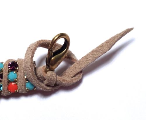 diy bracelet rhinestone chain suede lace tutorial eureka crystal beads jewelry making beginners