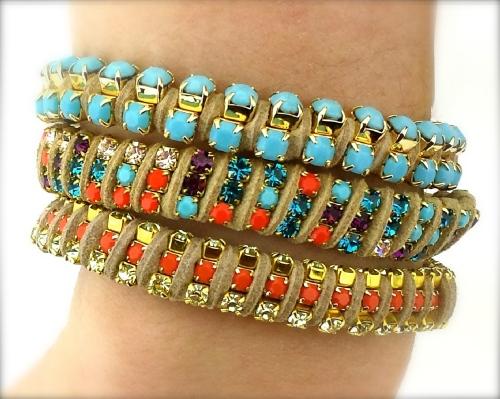 beginners project jewelry diy tutorial rhinestone chain bracelets eureka crystal beads
