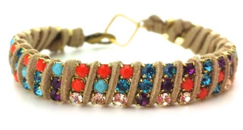 rhinestone cup chain crystal bracelet diy eureka crystal beads suede lace