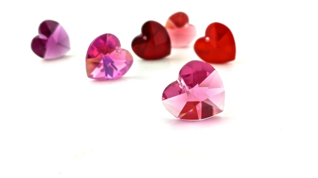 swarovski crystal hearts diy valentines day jewelry