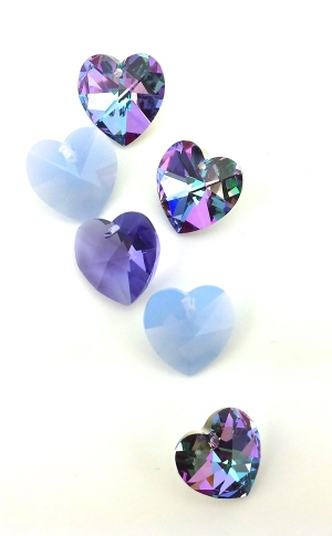 Swarovski crystal heart pendant valentine jewelry diy ideas romance