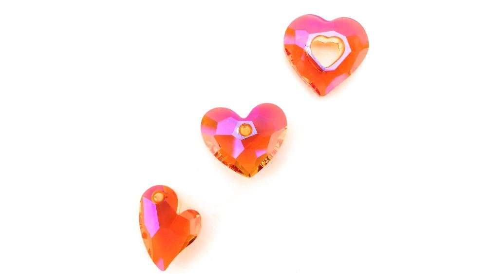 swarovski crystal designer hearts astral pink eureka crystal beads
