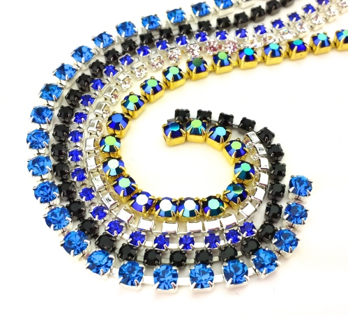 rhinestone cup chain jewelry supplies diy bracelet necklace coral turquoise eureka crystal beads