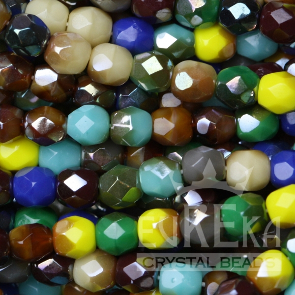 beads czech glass fire polish mix wholesale discount eureka crystal beads