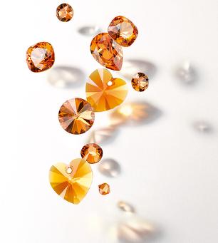 swarovski innovations 2015 tangerine crystal beads eureka