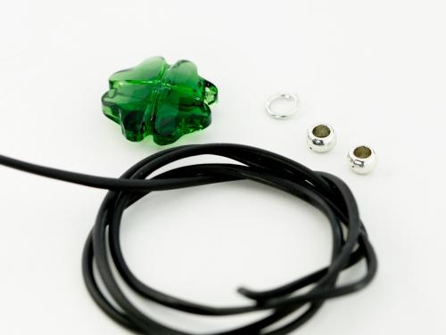 diy leather cord bracelet tutorial st patricks charm crystal eureka