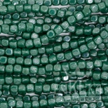 green cube beads eureka crystal czech glass mardi gras