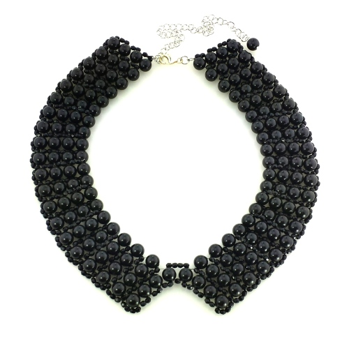Pearl swarovski collar necklace spring
