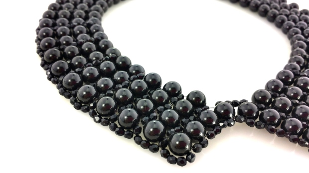 Pearl swarovski collar necklace spring