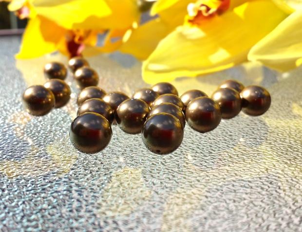 swarovski antique brass pearls
