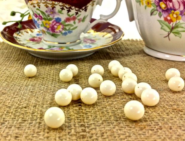 swarovski ivory pearls beads teacup teapot
