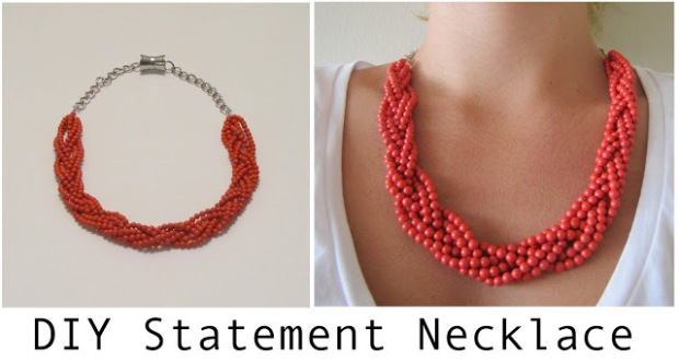 Coral+Statement+Necklace
