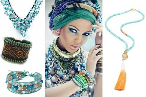 ethnic beading trend diy jewelry ideas fashion tribal exoitic jewellry