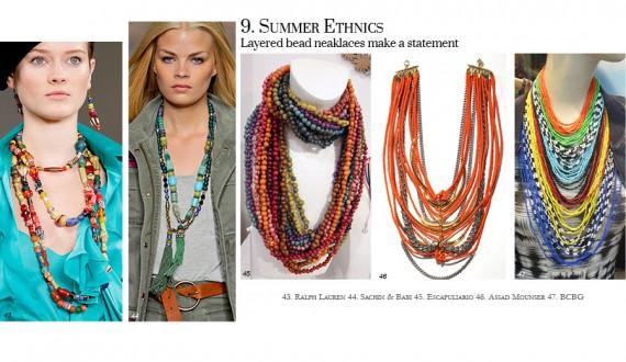 summer ethnics trend beading jewelry