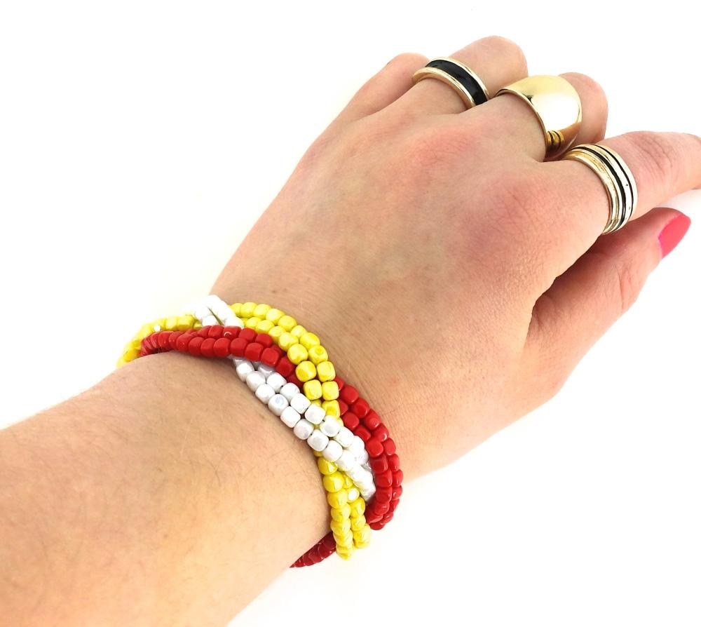 DIY beaded bracelet tutorial eureka crystal beads