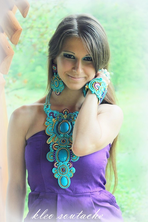 soutache jewellery kleo necklace set