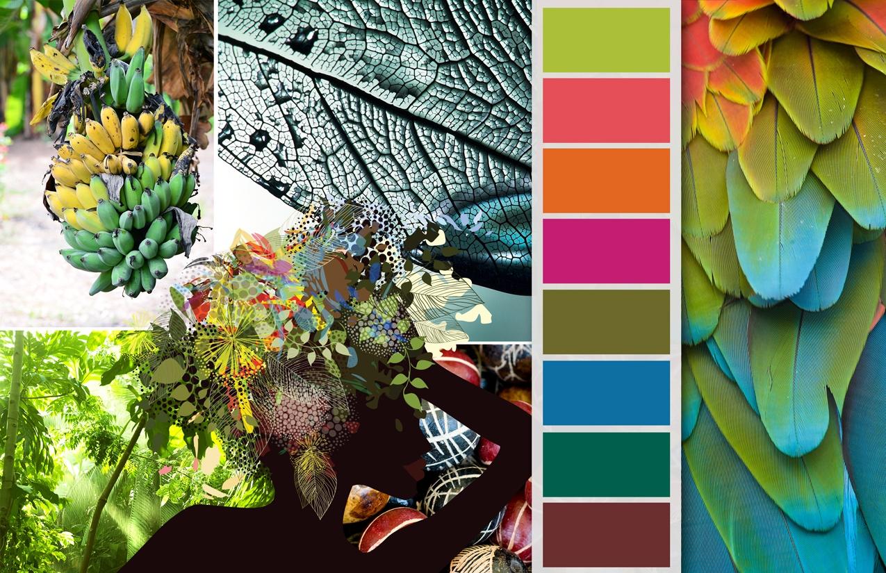 Tropical Colors: Color Palettes Summer 2014